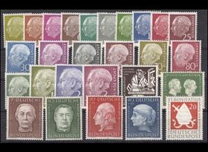 177-203 Bund-Jahrgang 1954 komplett, ohne y, postfrisch **