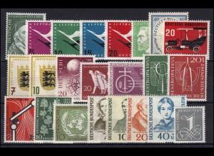 204-226 Bund-Jahrgang 1955 komplett, postfrisch ** / MNH
