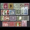 227-248 Bund-Jahrgang 1956, 22 Marken komplett, ** postfrisch