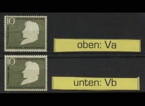 229 Heine - je eine Marke mit Wasserzeichen Va + Vb postfrisch **