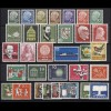 249-280 Bund-Jahrgang 1957 (ohne y) komplett ** postfrisch