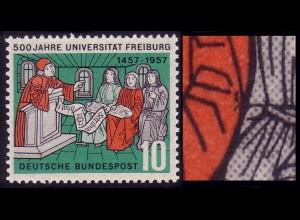 256 Uni Freiburg, PLF Punkte rechts im Ärmel, Feld 50, **