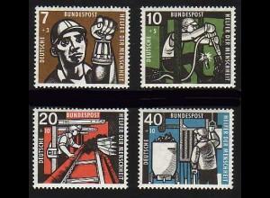 270-273 Wofa 1957 Bergarbeiter, Bergmann, Bergwerk - Satz ** postfrisch