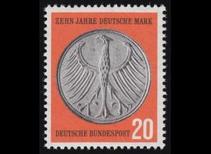 291VI Deutsche Mark - PLF VI Punkt mittig im linken Flügelknochen, Feld 44, **