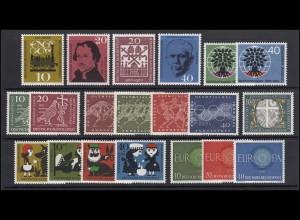 326-345 Bund-Jahrgang 1960 komplett, postfrisch **