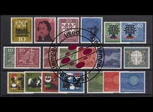 326-345 Bund-Jahrgang 1960 komplett, gestempelt O