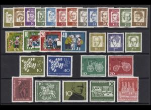 346-374 Bund-Jahrgang 1961 komplett, postfrisch **