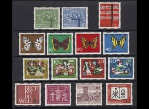 375-389 Bund-Jahrgang 1962 komplett postfrisch **