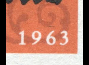 396 Katechismus mit PLF schwarzer Strich über 1963, Feld 2 **