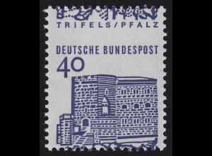 457 Trifels 40 Pf kleine Bauten - Verzähnung: Zähnung im Markenbild **