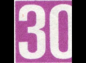553 Handwerk mit PLF roter Strich oben im Bogen der 3 von 30, Feld 12, **