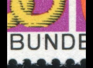 553 Handwerk mit PLF roter Punkt zwischen UN in BUNDESPOST, Feld 33, **
