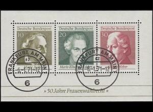 Block 5 Frauenwahlrecht 1969 - ohne Zähnungsloch rechts unten VS-O Ffm 6.1.71
