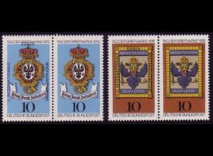 866+903 Aufdruck-Paare zur 1. Briefmarken-Messe Essen, Set postfrisch **