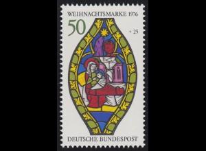 912 Einzelmarke aus Block 13 Weihnachten - Marienfenster, postfrisch **