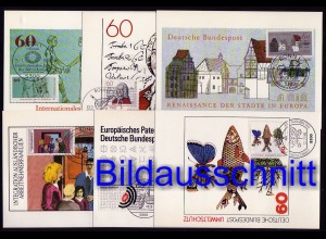 1082-1117 Maximumkarten Jahrgang 1981 kpl. ohne ATM