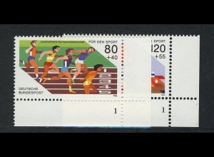 1269-1270 Sporthilfe Kurzstreckenlauf und Viererbob 1986, FN1 Satz **