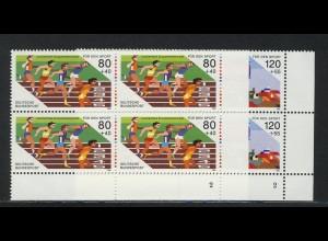 1269-1270 Sporthilfe Kurzstreckenlauf und Viererbob 1986, Vbl FN2 Satz **