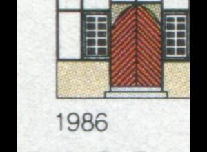 1271I Bad Hersfeld mit PLF I gebrochene 6 in 1986, Feld 33 ** postfrisch