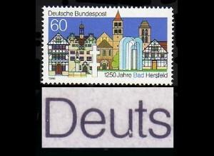 1271 Bad Hersfeld, PLF gebrochenes u in Deutsche, Feld 12, **