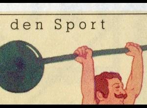 Sport 1991 Gewichtheben 70 Pf, 6x1499, PLF Feld 7, postfrisch