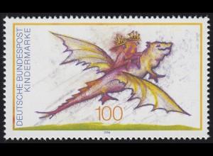 1754 Einzelmarke aus Block 30 Für uns Kinder - Fabelwesen 1994, postfrisch **