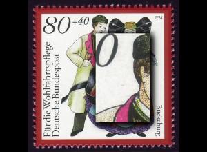 1757 Bückeburg mit PLF roter Strich links am Hals, Feld 9, **