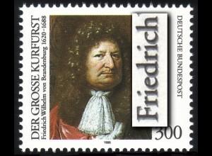1781DD Großer Kurfürst mit Doppeldruck der Farbe Schwarz **