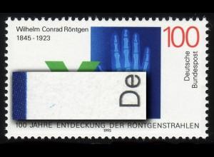 1784 Röntgen mit PLF blauer Strich über D von DEUTSCHE, Feld 10, **