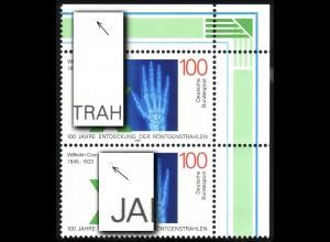 1784 Röntgen im ER-Paar mit 2 PLF, Felder 2 und 4, **