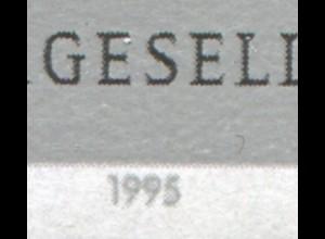 1792I Friedrich Schiller mit PLF I: verdickte Jahreszahl 1995, Feld 1 **