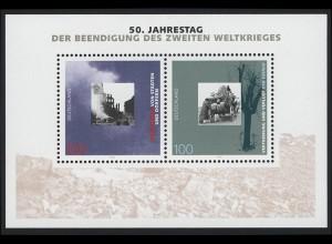 Block 31 Jubiläum 50 Jahre Kriegsende 1995, postfrisch