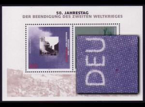 Block 31 Kriegsende mit PLF roter Fleck unter DE von DEUTSCHLAND, **
