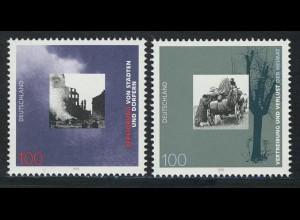1794-1795 Einzelmarken aus Block 31 Kriegsende, Satz **