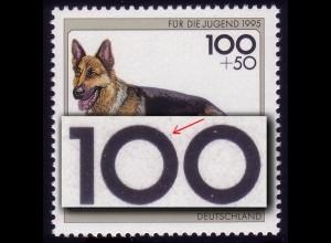 1799 Schäferhund mit PLF Strich zwischen 00 bei der 100, Feld 6, **