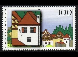 1807I Fränkische Schweiz - PLF I: schwarzer Strich unter dem Dach, Feld 4 **