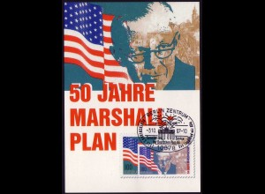 1926 Marshallplan 1997 - Maximumkarte, SSt Berlin