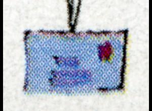 Block 40 Für uns Kinder 1997 mit PLF oben links gebrochene Oberkante **