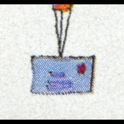 Block 40I Für uns Kinder 1997 mit PLF I durchgehende Brieflinie, ESSt BONN