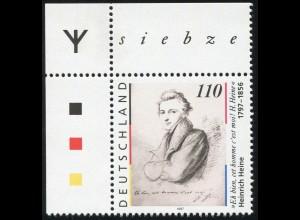 1962 Heine 1. Auflage: Ecke oben links mit Runen-Zeichen **