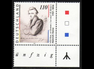 1962 Heine 1. Auflage: Ecke unten rechts mit Runen-Zeichen **