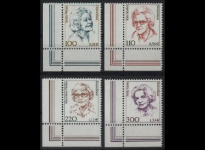 2149/2159 Frauen/Doppelwährung 4 Werte Ecke u.l. Satz **