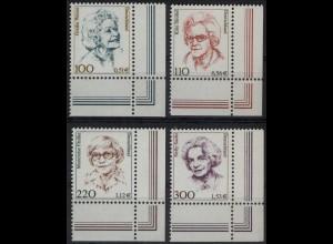 2149/2159 Frauen/Doppelwährung 4 Werte Ecke u.r. Satz **