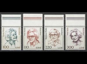 2149/2159 Frauen/Doppelwährung 4 Werte Oberrand-Satz ** postfrisch
