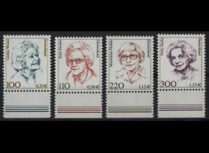 2149/2159 Frauen/Doppelwährung 4 Werte Unterrand-Satz **
