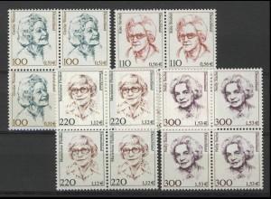 2149/2159 Frauen/Doppelwährung 4 Werte Viererblock-Satz **