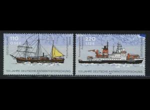 2229-2230 Einzelmarken aus Block 57 Antarktis, 2 Werte, Satz **