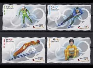 2237a-2240a Sporthilfe - Satz aus Zehnerbogen Olympiade 2002, **