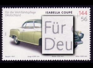 2293I Wofa Isabella mit PLF I Punkt am D von Deutschland, Feld 2, **