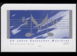 2380 F Musikrat Druck auf der Deckelseite (ohne Fluoreszenz) ** FA Schlegel